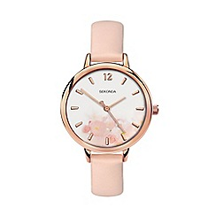 Sekonda - Ladies pink analogue fashion strap watch 2624.28