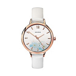 Sekonda - Ladies white analogue fashion strap watch 2623.28