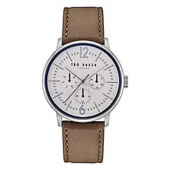Ted Baker - Men's light brown 'Jason' analogue leather strap watch TE15066004