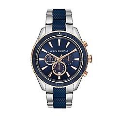 Armani Exchange - Men's silver active chronograph bracelet watch AX1819