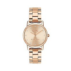 Coach - Ladies rose gold 'Grand' bracelet watch 14503003