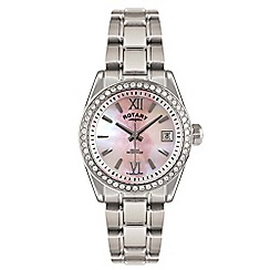 Rotary - Ladies silver 'Havana' Mother of Pearl analogue bracelet watch LB02660/07