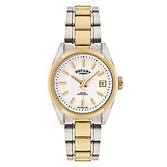 Rotary - Ladies gold and silver 'Havana' analogue bracelet watch LB02661/11