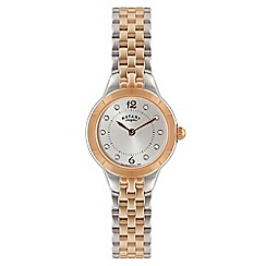 Rotary - Ladies rose gold and silver analogue bracelet watch LB02762/59