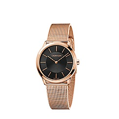 Calvin Klein - Unisex rose gold 'Minimal' analogue bracelet watch K3M2262Y