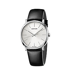 Calvin Klein - Men's black 'Posh' analogue leather strap watch K8Q311C6