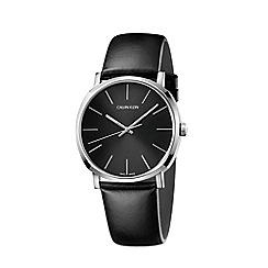 Calvin Klein - Men's black 'Posh' analogue leather strap watch K8Q311C1