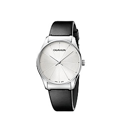 Calvin Klein - Men's black 'Classic Too' analogue leather strap watch K4D211C6