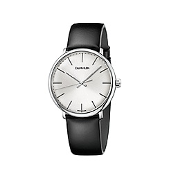 Calvin Klein - Men's black 'High Noon' analogue leather strap watch K8M211C6