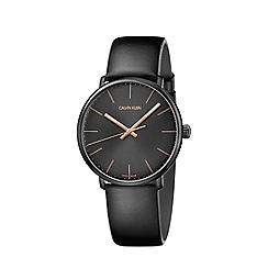 Calvin Klein - Men's black 'High Noon' analogue leather strap watch K8M214CB