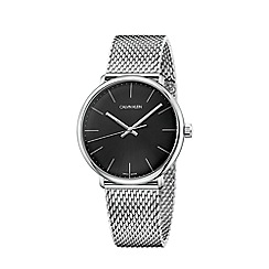 Calvin Klein - Men's silver 'High Noon' analogue bracelet watch K8M21121