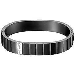 Calvin Klein - Black 'Plate' bracelet