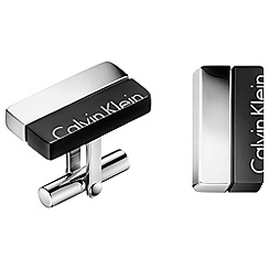 Calvin Klein - Silver and black 'Boost' cufflinks
