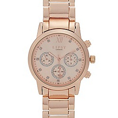 Lipsy - Womens' Rose Gold Plated Mock Multi Dial Analogue Watch