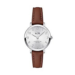 Coach - Ladies brown 'Ca Brn' analogue leather strap watch 610113006