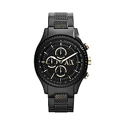 Armani Exchange - Gents black IP plated case and bracelet watch ax1604