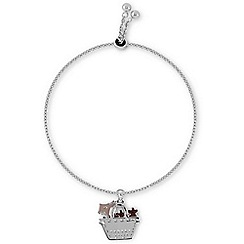 Radley - Silver Dog In Bag Charm Bracelet