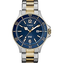 Timex - Men's Gold and Silver 'Harbourside' Analogue Bracelet Watch TW2R64700