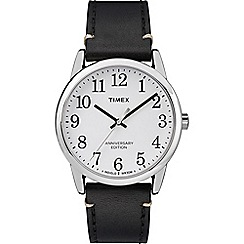 Timex - Men's Black 'Easy Reader' Analogue Leather Strap Watch TW2R35700
