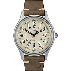 Timex - Men's Brown 'MK1' Analogue Leather Strap Watch TW2R96800