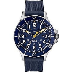 Timex - Men's Blue Analogue Silicone Strap Watch Tw2R60700