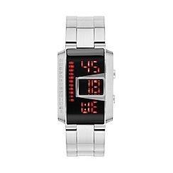 STORM London - Men's Silver 'MK4 Circuit' Digital Bracelet Watch 47302/BK
