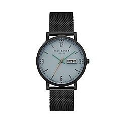 Ted Baker - Men's black IP Mesh bracelet watch