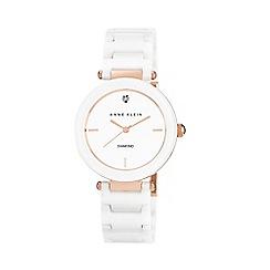 Anne Klein - Ladies white ceramic watch ak/n1018rgwt