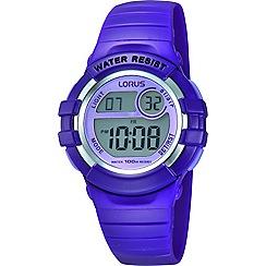 Lorus - Kids' purple back light watch r2385hx9