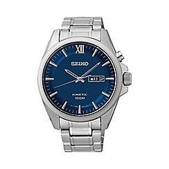 Seiko - Men's kinetic silver bracelet watch smy159p1