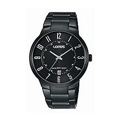 Lorus - Gents titanium coated bracelet watch rs975bx9