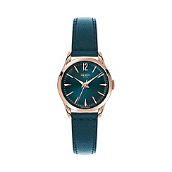 Henry London - Ladies green 'Stratford' leather strap watch hl25-s-0128