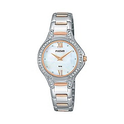 Pulsar - Ladies rose gold plated two tone bracelet Watch pm2175x1