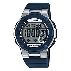 Lorus - Kids sporty digital watch on blue silicone strap r2355kx9