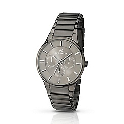Accurist - Men's gun metal multifunction bracelet watch 7038.01