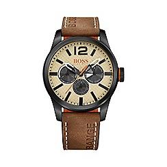 Boss Orange - Men's silver chronograph strap watch 1513237