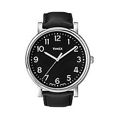 Timex - Men's oversized originals black dial with black strap watch t2n339