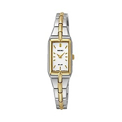 Seiko - Women's solar two tone bracelet watch sup272p9