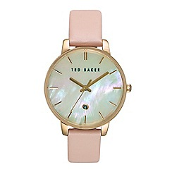 Ted Baker - Ladies Mother Of Pearl pink leather watch te10026423
