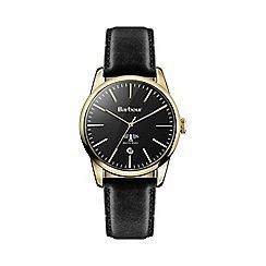 Barbour - Women's 'Leighton' black leather strap watch bb049gdbk