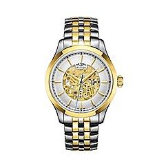 Rotary - Men's two tone 'Skeleton' watch gb05033/06