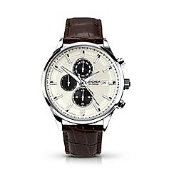 Sekonda - Gents brown leather strap watch 1177.28