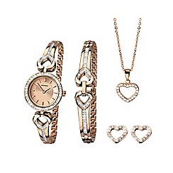 Sekonda - Ladies rose gold plated 4 piece gift set 2363g.76
