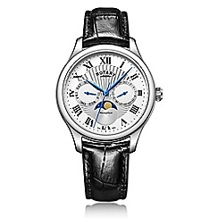 Rotary - Gents Stainless Steel Strap Watch with Moonphase Chronograph Dial gs05065/01