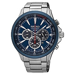 Seiko - Gents Stainless Steel Chronograph Bracelet Watch ssc495p1