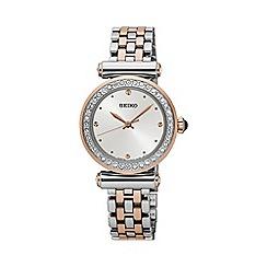 Seiko - Ladies Stainless Steel/Two Tone 3-Hand Bracelet Watch srz466p1