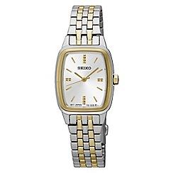 Seiko - Ladies Stainless Steel/Two Tone 3-Hand Bracelet Watch srz472p1
