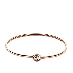 Fossil - Ladies rose gold-tone iconic bracelet