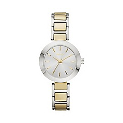 DKNY - Ladies Fashion Watch with a round Silvery White Dial ny2401