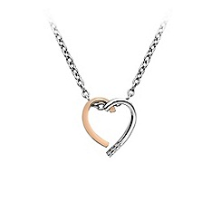 Hot Diamonds - Sterling Silver Rose Gold and Rhodium plated Heart pendant